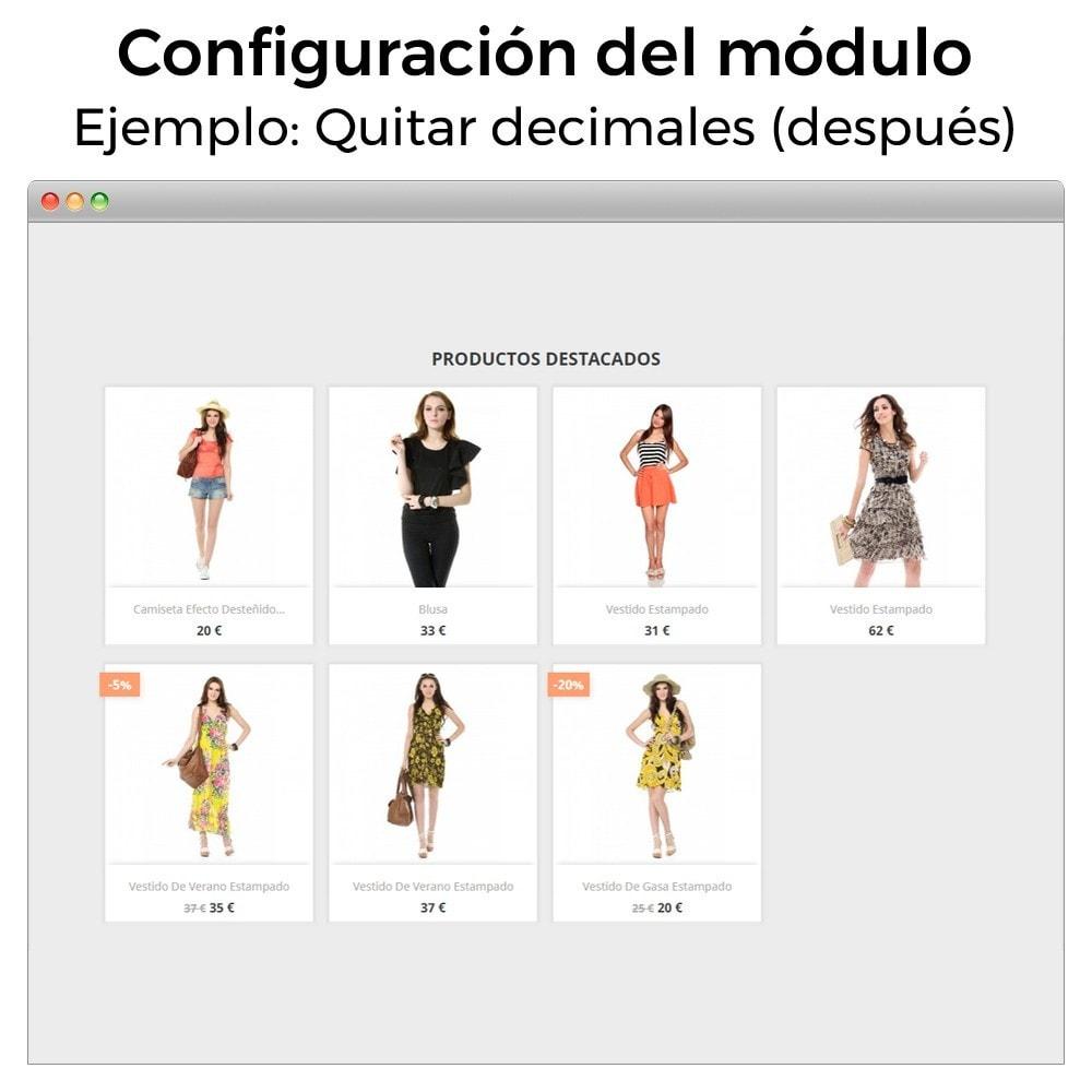 module - Gestión de Precios - Formato de moneda y modificación de decimales - 5