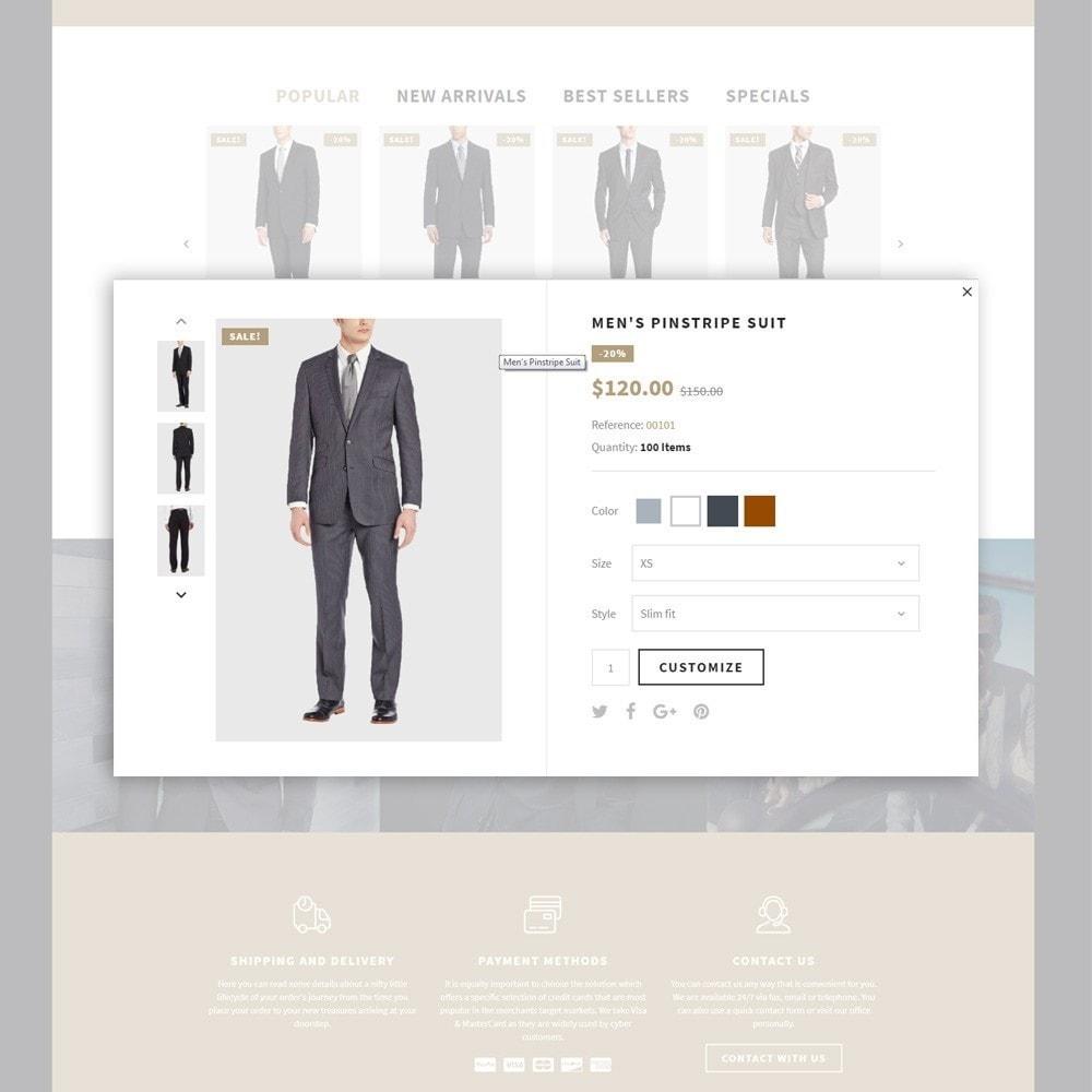 theme - Мода и обувь - Lefishor - PrestaShop шаблон мужской одежды - 6