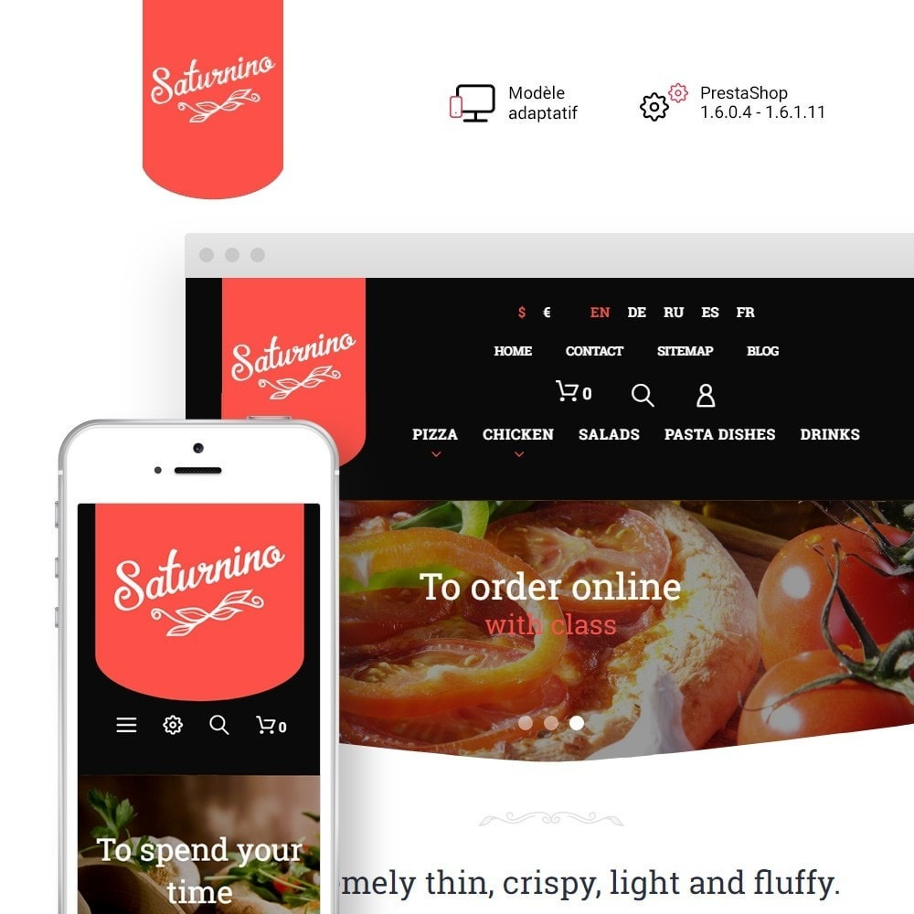 theme - Alimentation & Restauration - Saturnino - Pizza Restaurant - 2
