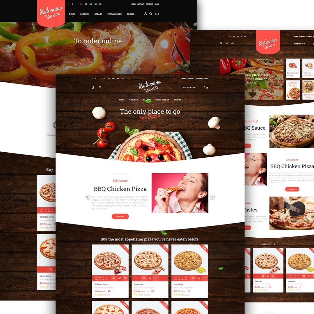 theme - Alimentation & Restauration - Saturnino - Pizza Restaurant - 3