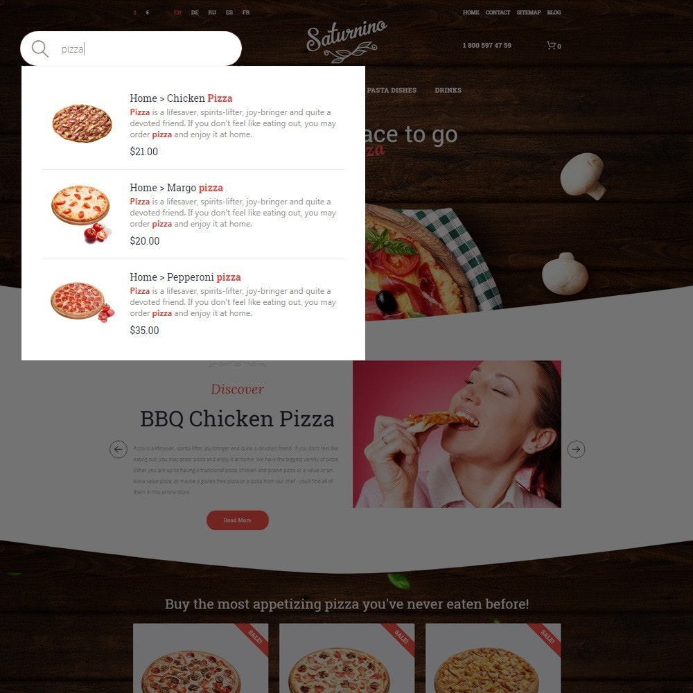 theme - Alimentation & Restauration - Saturnino - Pizza Restaurant - 6
