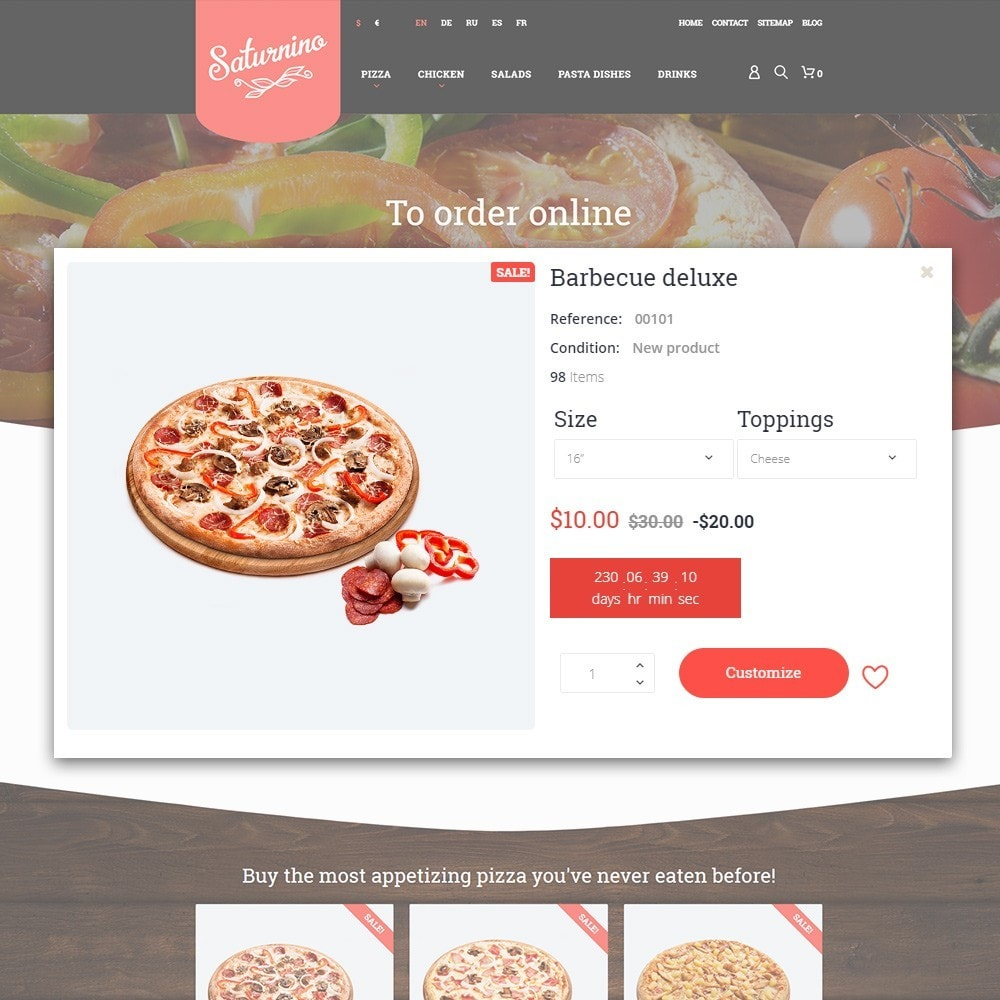 theme - Alimentation & Restauration - Saturnino - Pizza Restaurant - 7