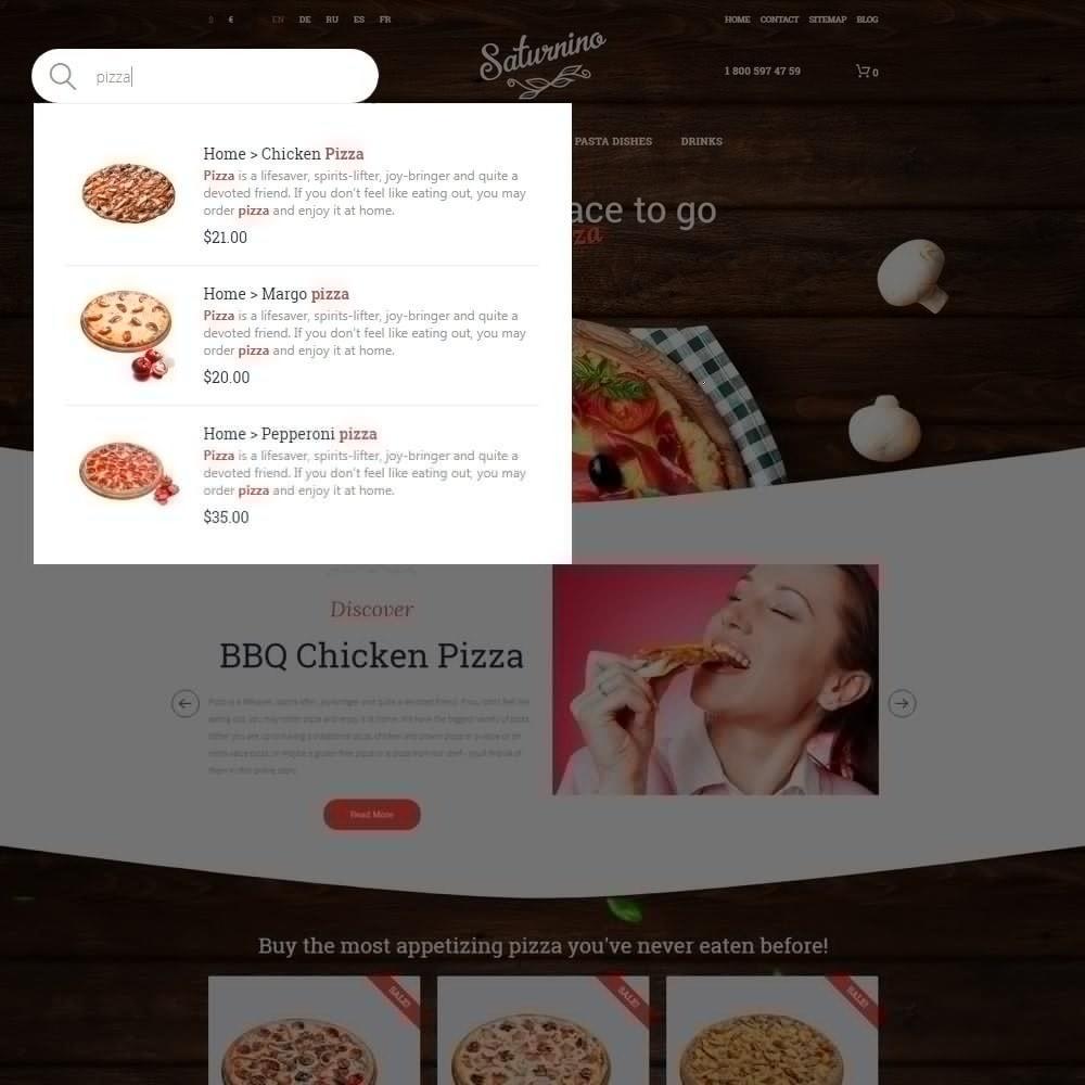 theme - Продовольствие и рестораны - Saturnino - PrestaShop шаблон пиццерии - 5
