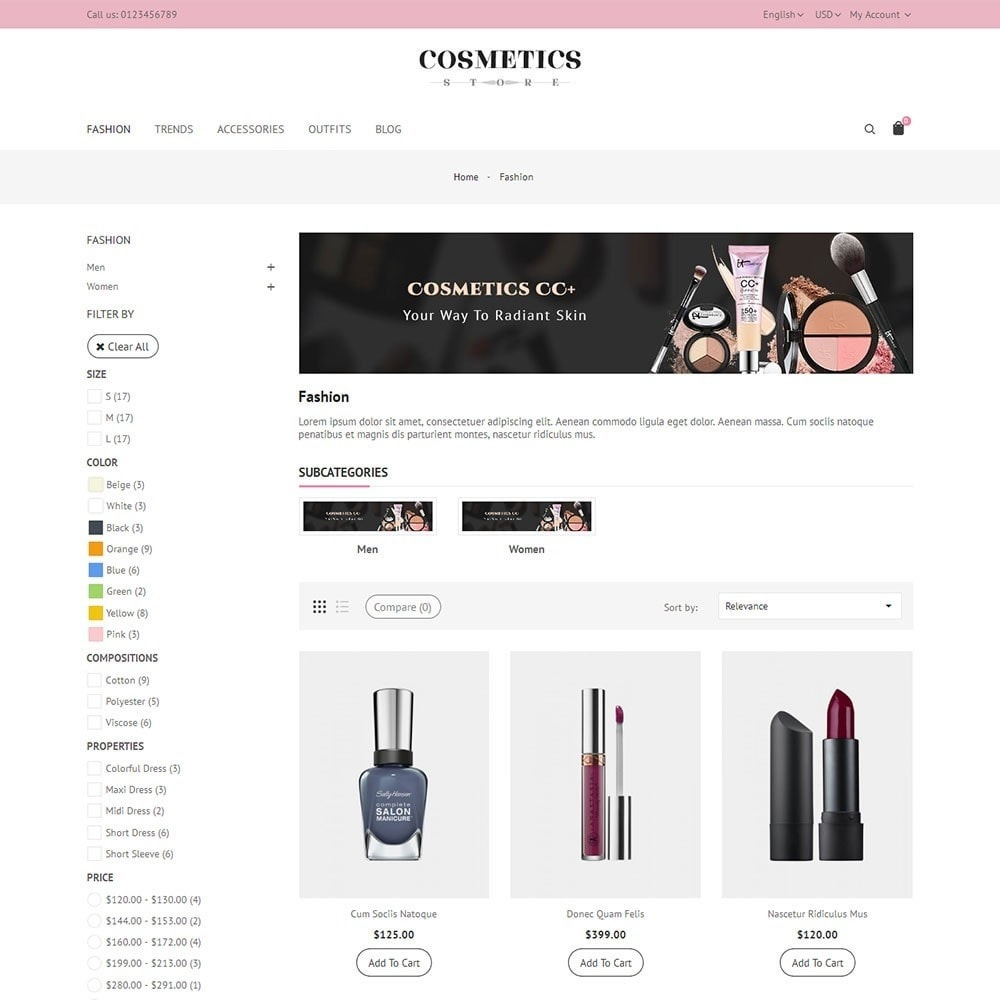 theme - Salute & Bellezza - Cosmetics Store - 3