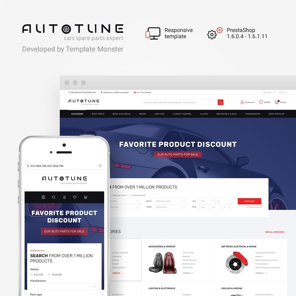 theme - Automotive & Cars - Autotune - Responsive PrestaShop Theme - 1