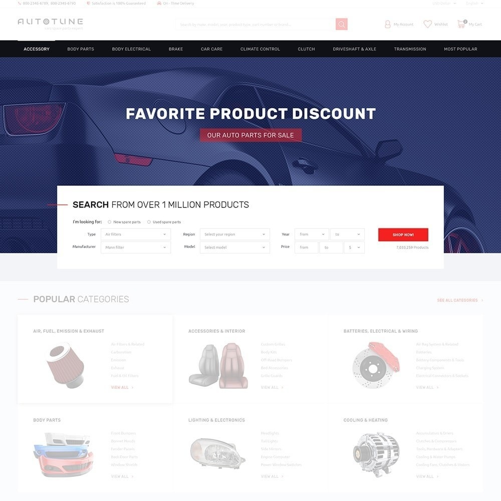 theme - Automotive & Cars - Autotune - Responsive PrestaShop Theme - 2