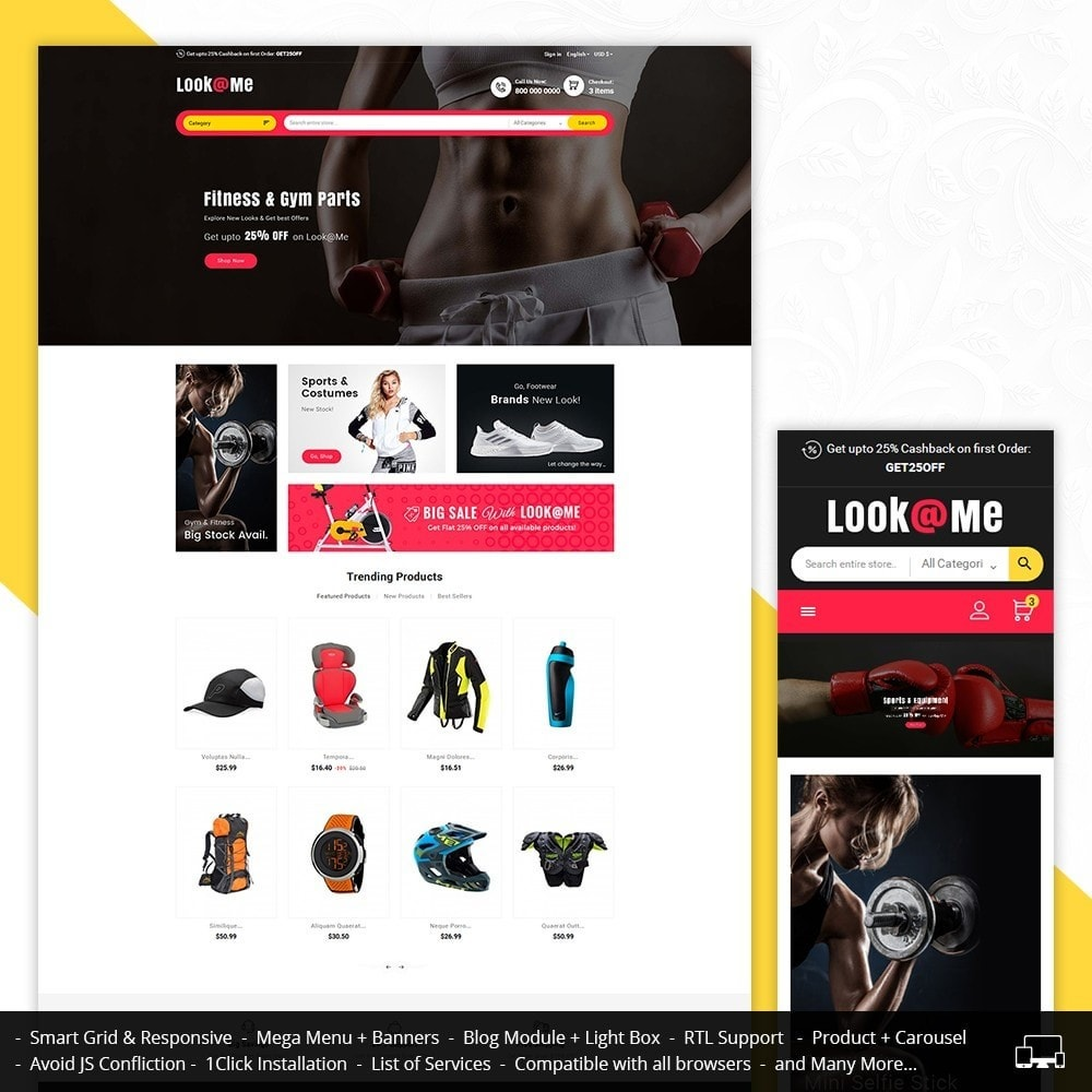 theme - Sports, Activities & Travel - Look me Sports Club - 1