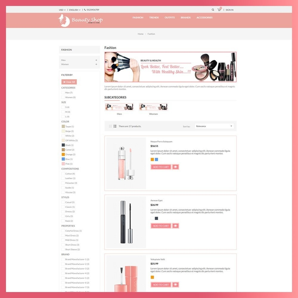 theme - Salute & Bellezza - Beauty Cosmetic store - 4