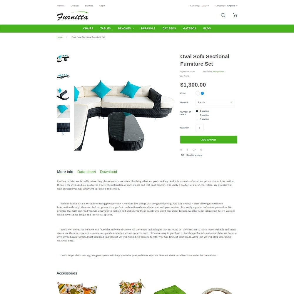 theme - Hogar y Jardín - Tema de PrestaShop para Sitio de Muebles - 6