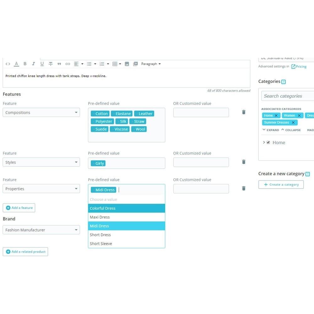 module - Combinaciones y Personalización de productos - Múltiples características e importación - 2