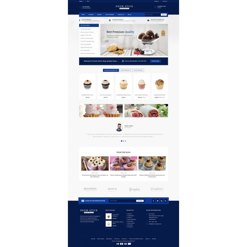 theme - Alimentos & Restaurantes - Drum Stick - Bakery Store - 2