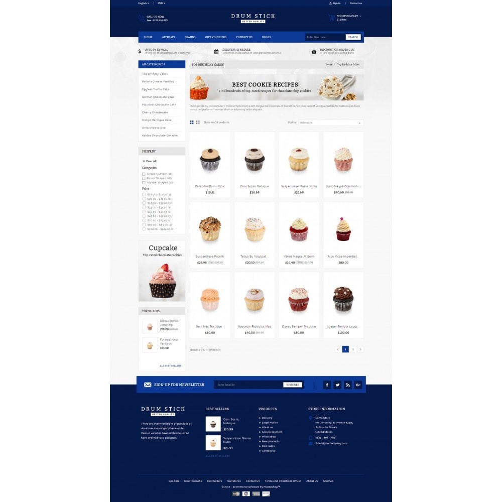 theme - Alimentos & Restaurantes - Drum Stick - Bakery Store - 3