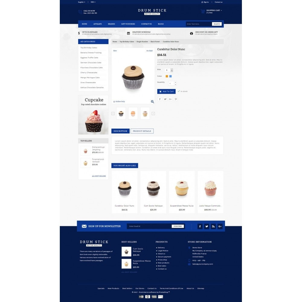 theme - Alimentos & Restaurantes - Drum Stick - Bakery Store - 5