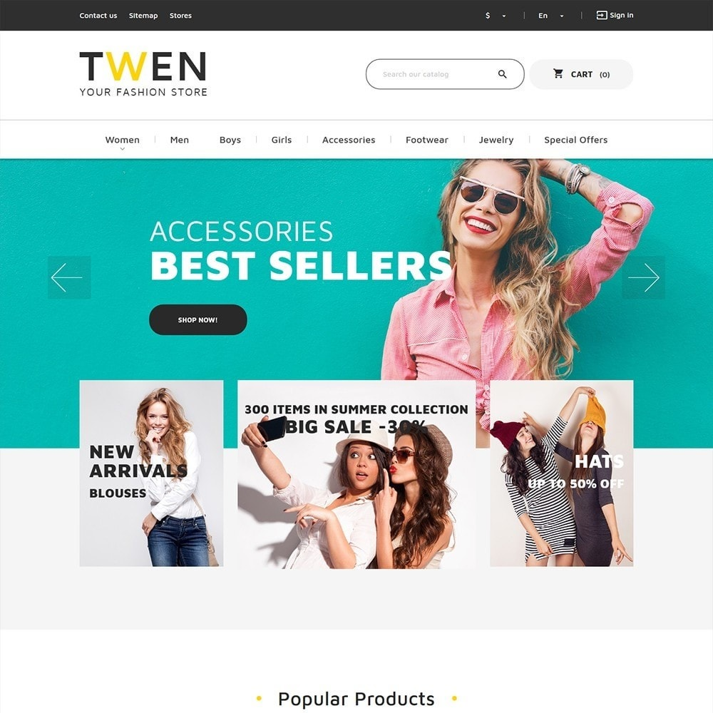 theme - Fashion & Shoes - Twen - Fashion Store Responsive - 2