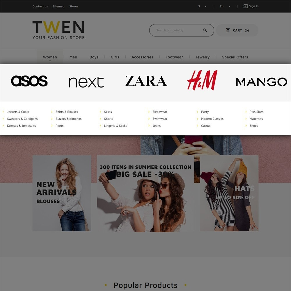 theme - Fashion & Shoes - Twen - Fashion Store Responsive - 5
