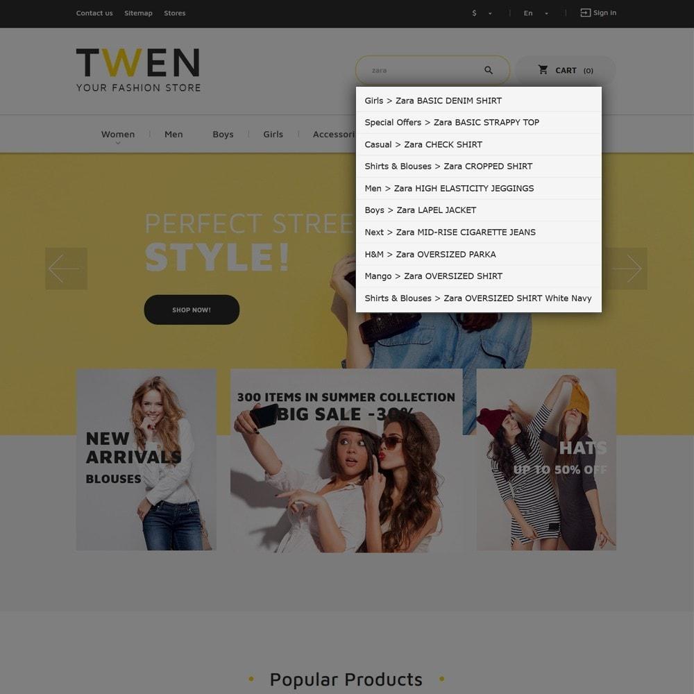 theme - Mode & Chaussures - Twen - magasin de mode thème PrestaShop adaptatif - 7