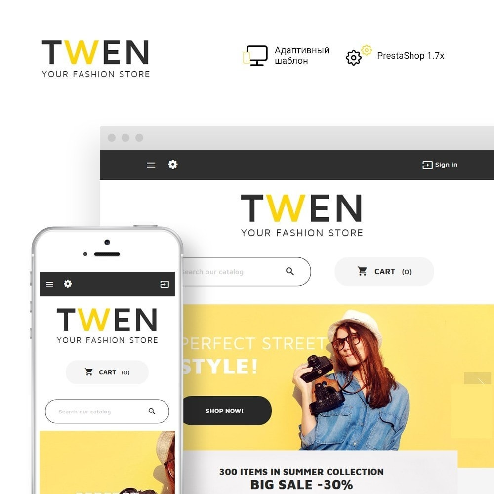 theme - Мода и обувь - Twen - Адаптивный PrestaShop шаблон модной одежды - 2