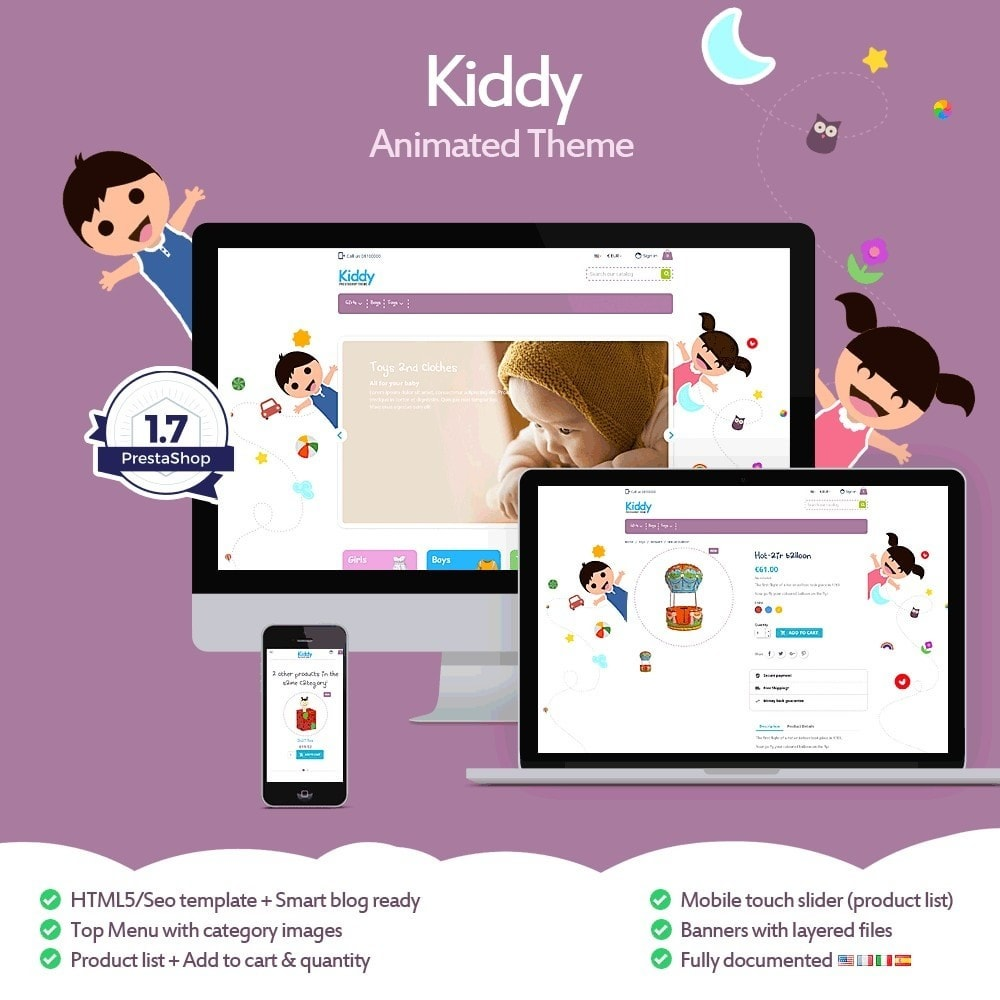theme - Kids & Toys - Kiddy - Children's Store - 1