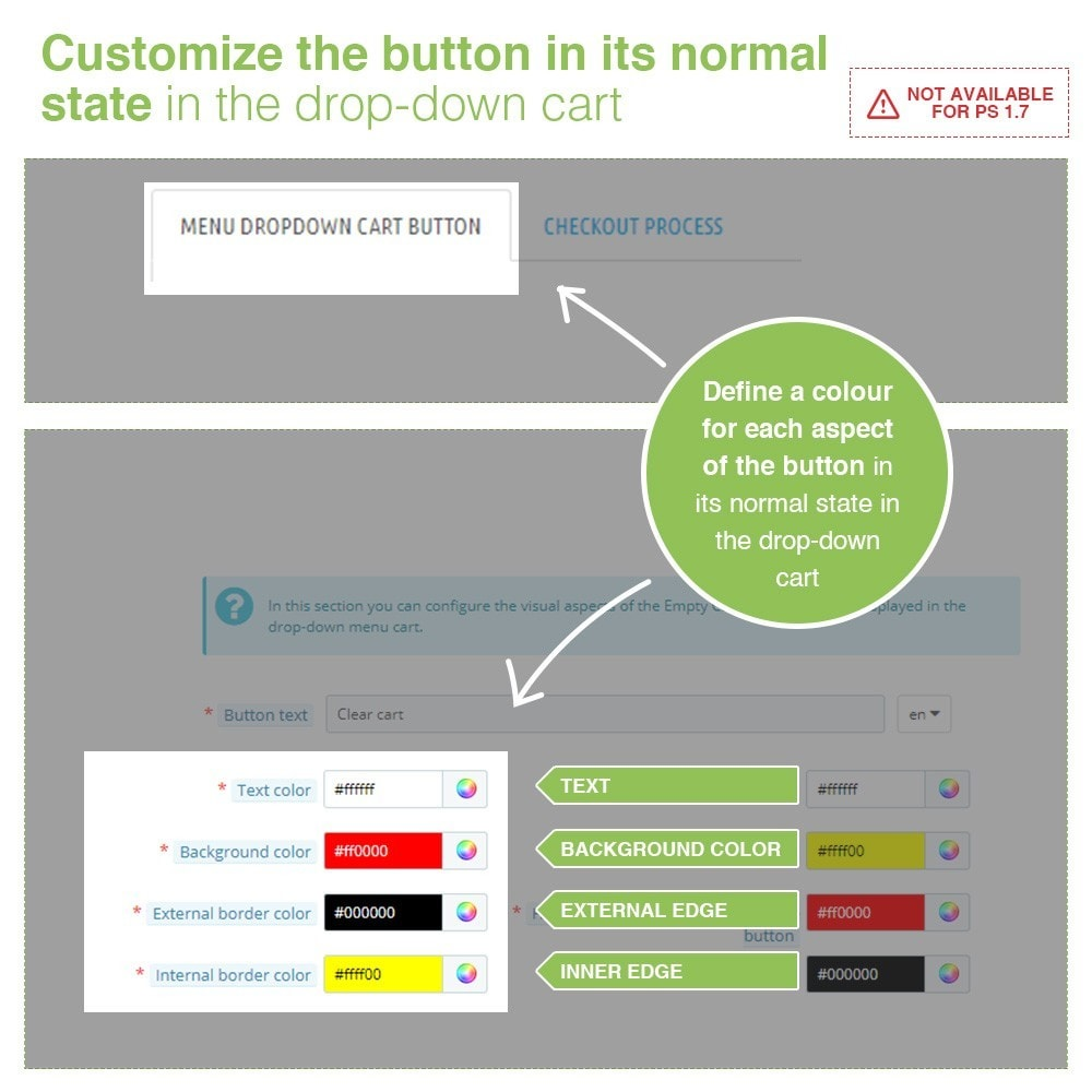 module - Registration & Ordering Process - Empty Cart button – Remove products from the cart - 3