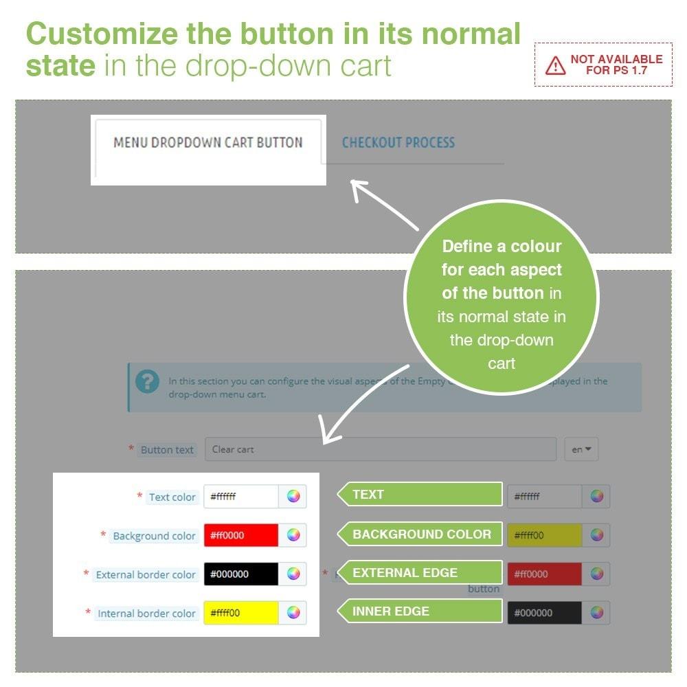 module - Pегистрации и оформления заказа - Empty Cart button – Remove products from the cart - 3