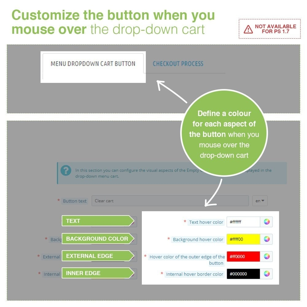 module - Registration & Ordering Process - Empty Cart button – Remove products from the cart - 4
