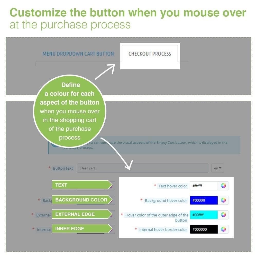 module - Pегистрации и оформления заказа - Empty Cart button – Remove products from the cart - 5
