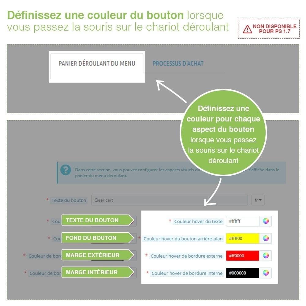 module - Inscription & Processus de commande - Bouton Vider Panier – Supprimer produits du panier - 4