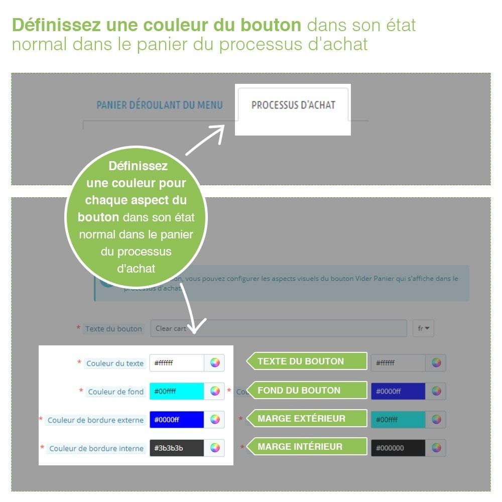 module - Inscription & Processus de commande - Bouton Vider Panier – Supprimer produits du panier - 5