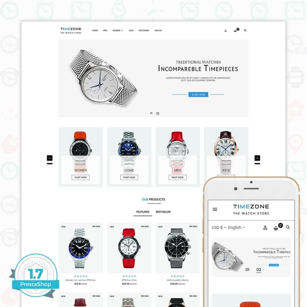 theme - Bellezza & Gioielli - Timezone - The Watch Store - 1