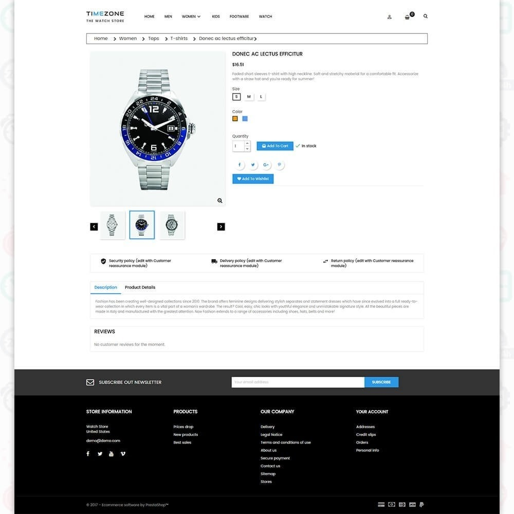 theme - Bellezza & Gioielli - Timezone - The Watch Store - 5