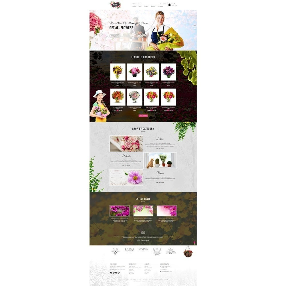 theme - Gifts, Flowers & Celebrations - Floret Flower Store - 2