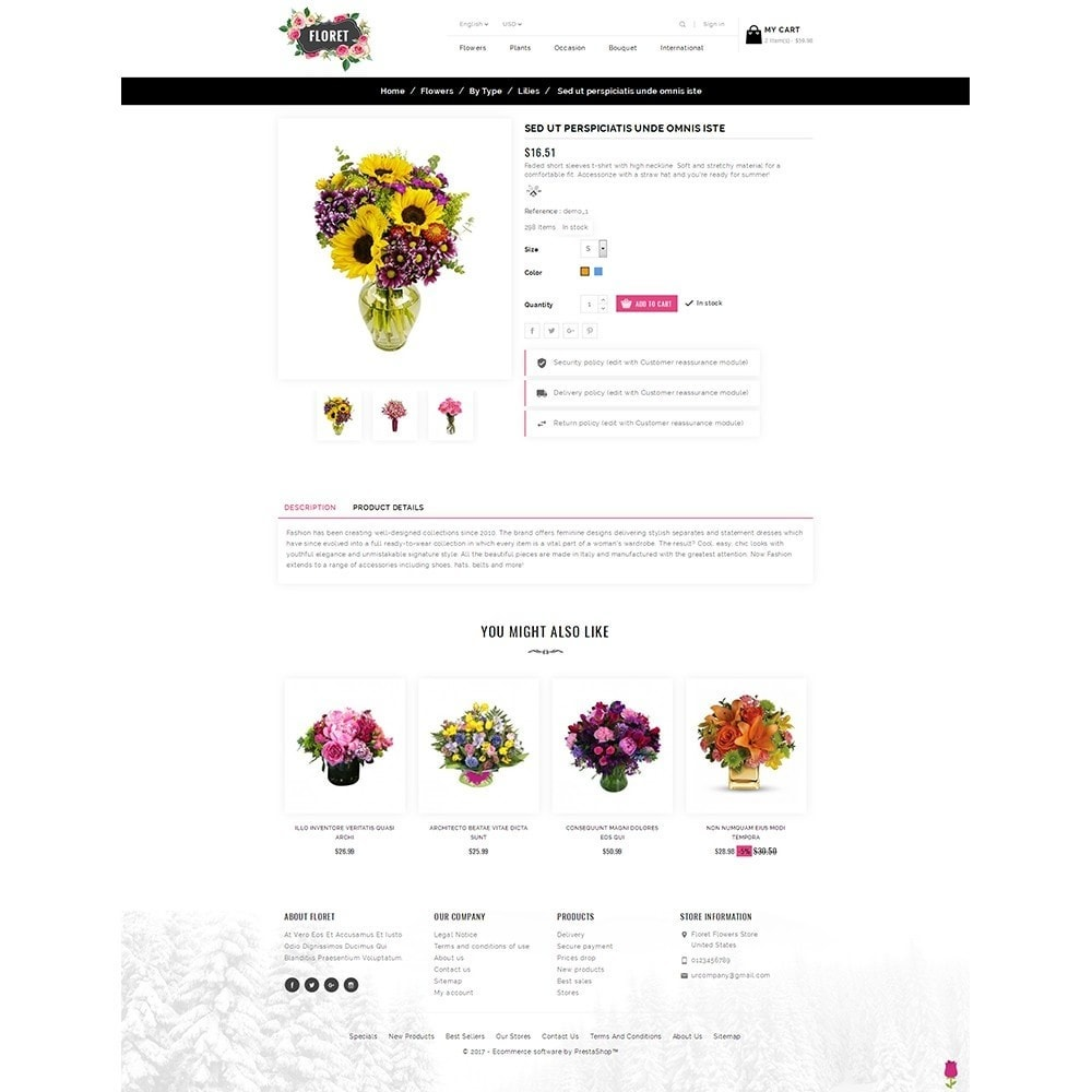 theme - Gifts, Flowers & Celebrations - Floret Flower Store - 5