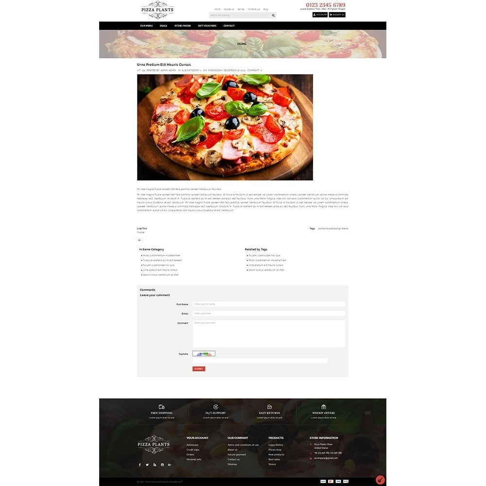 theme - Eten & Restaurant - Pizza Plants Store - 8