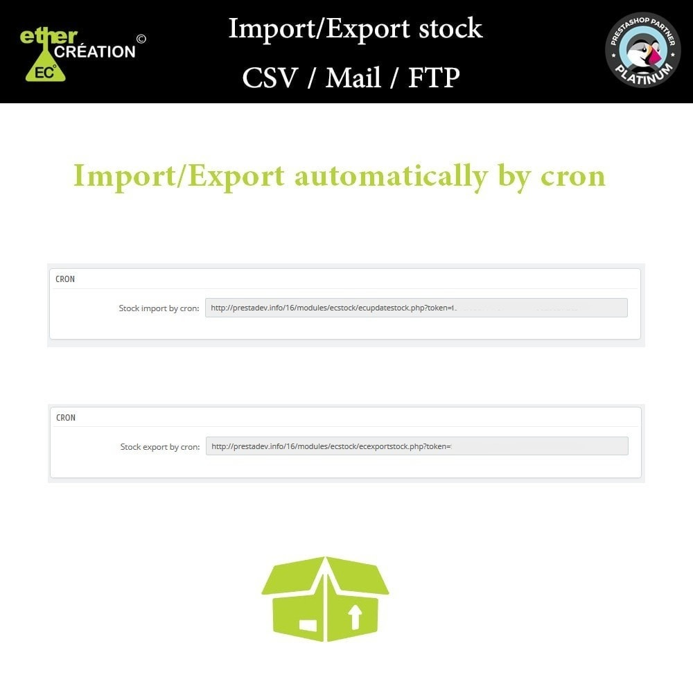 module - Data Import & Export - Import / Export stock CSV / Mail / FTP - 4