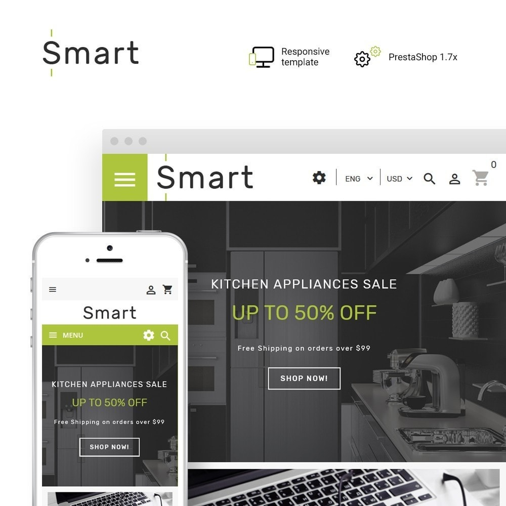 theme - Eletrônicos & High Tech - Smart - Gadgets & Electronics PrestaShop 1.7 Theme - 1