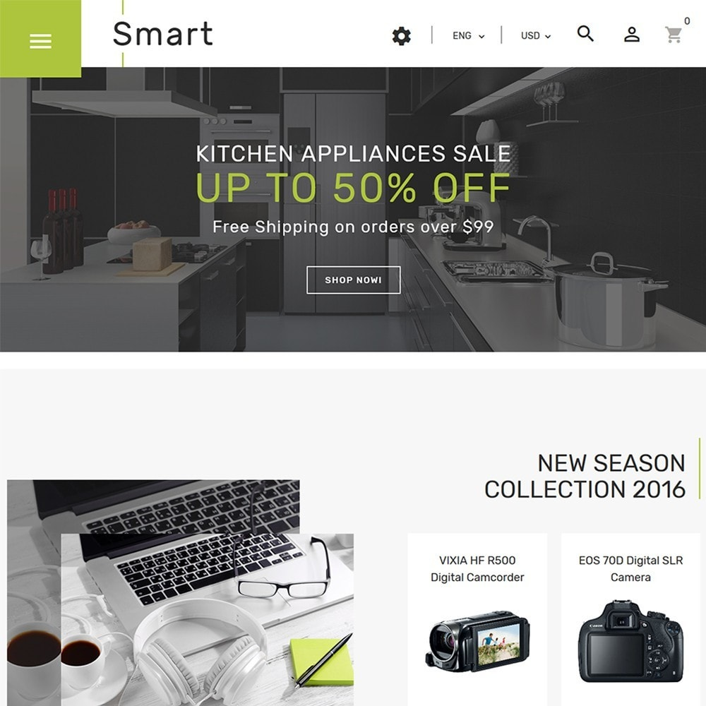 theme - Eletrônicos & High Tech - Smart - Gadgets & Electronics PrestaShop 1.7 Theme - 2