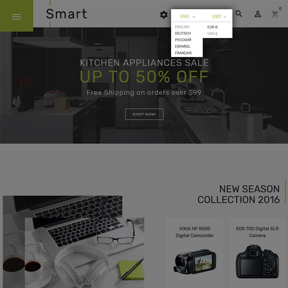 theme - Elektronica & High Tech - Smart - Gadgets & Electronics PrestaShop 1.7 Theme - 4
