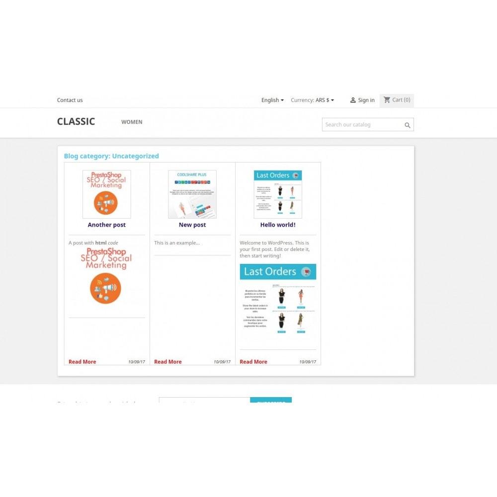module - Blog, Fórum & Notícias - Wpress - Wordpress in Prestashop - 3