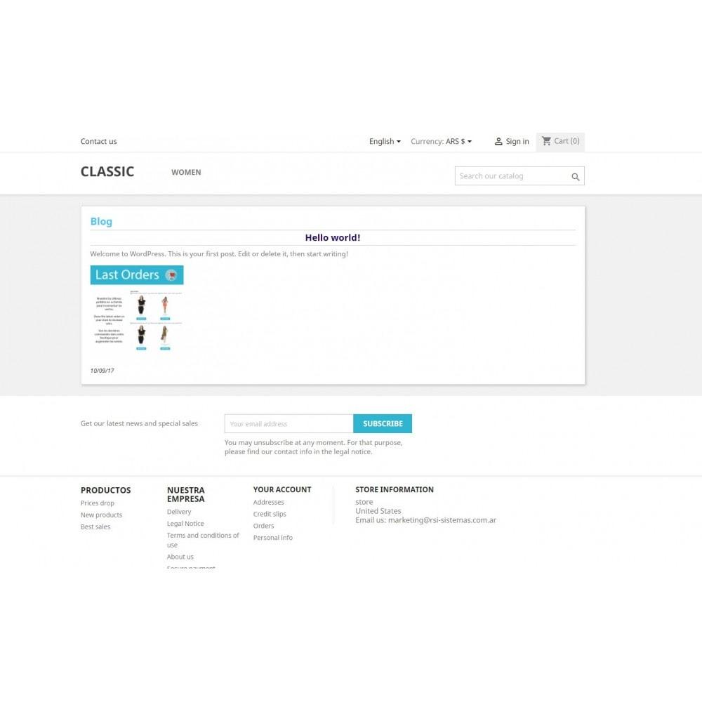 module - Blog, Fórum & Notícias - Wpress - Wordpress in Prestashop - 6