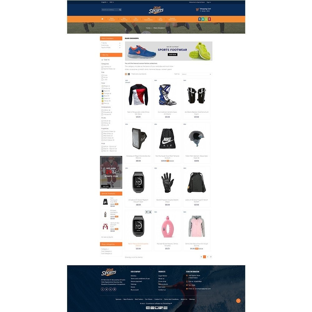 theme - Sports, Activities & Travel - Just Sports Store - 3