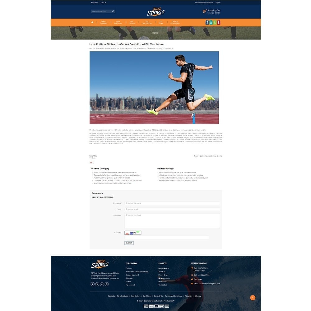 theme - Sports, Activities & Travel - Just Sports Store - 8