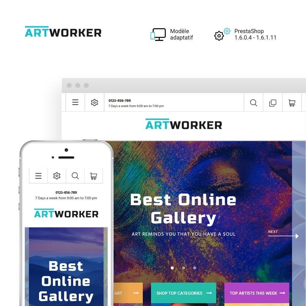 theme - Art & Culture - Artworker - Galerie et portfolio d'artiste en ligne - 2