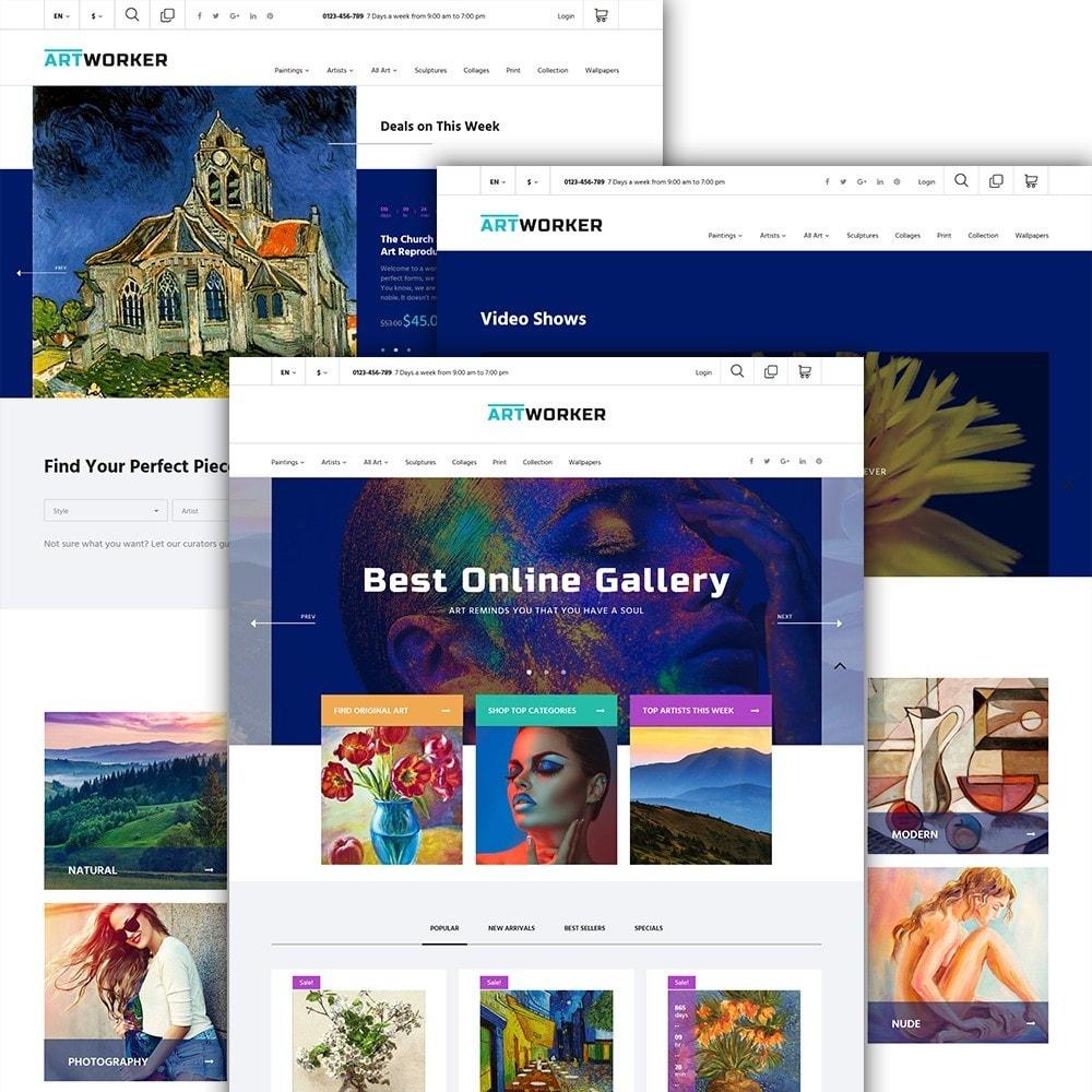 theme - Art & Culture - Artworker - Galerie et portfolio d'artiste en ligne - 3
