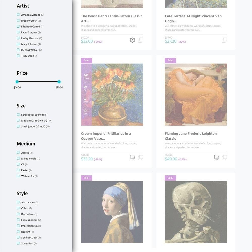 theme - Arte y Cultura - Artworker -  Sitio de Galerías de arte - 4