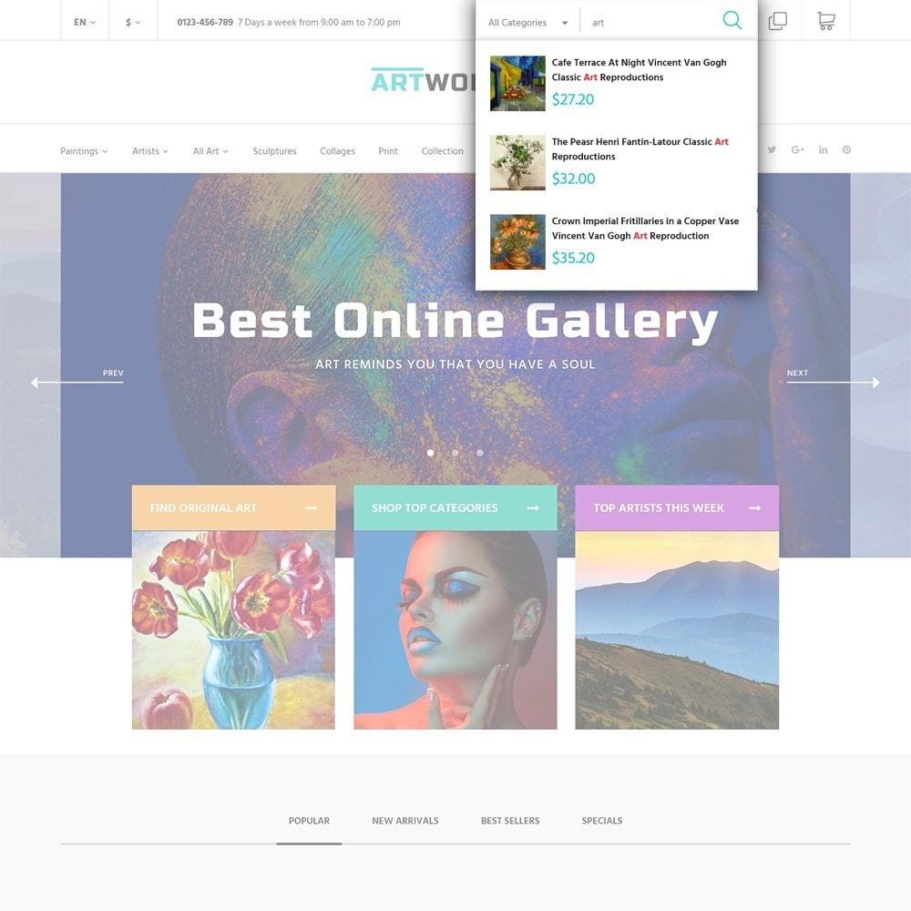 theme - Arte y Cultura - Artworker -  Sitio de Galerías de arte - 6