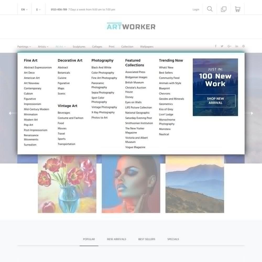 theme - Arte y Cultura - Artworker -  Sitio de Galerías de arte - 7