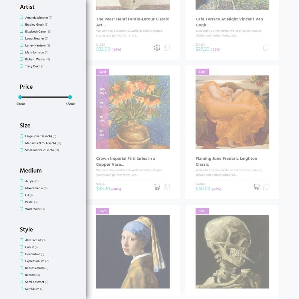 theme - Arte & Cultura - Artworker -  Un Sito di Galleria d'Arte - 4