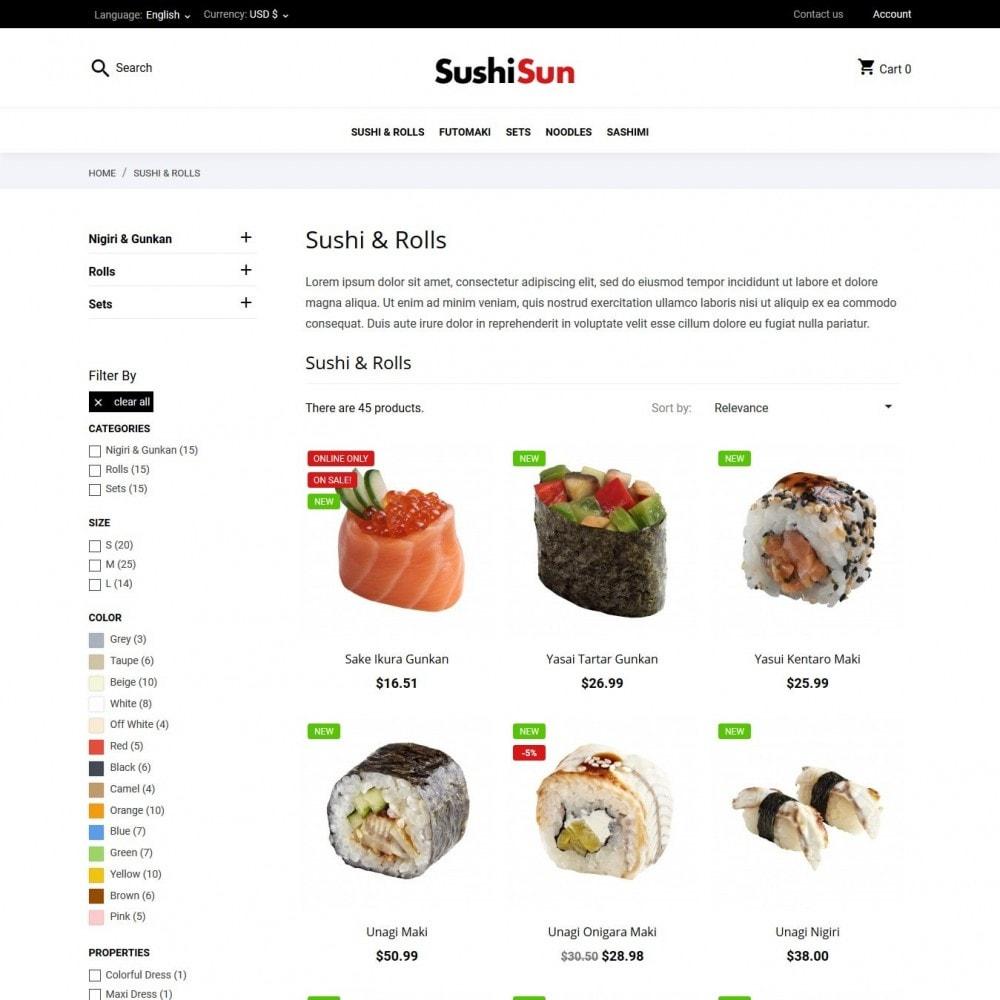 theme - Alimentation & Restauration - SushiSun - 5