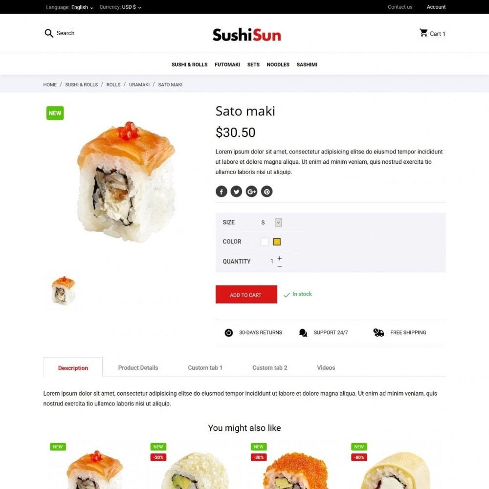 theme - Продовольствие и рестораны - SushiSun - 6