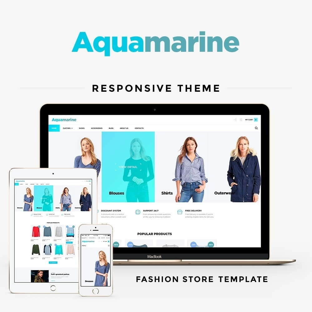 theme - Fashion & Shoes - Aquamarine Fashion Store - 1